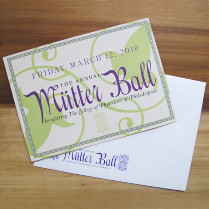 Mutter Ball Invitation